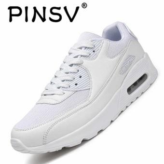 PINSV Musim Panas Pria Fashion Sepatu Kets Olahraga Kasual Bernapas Nyaman  Sepatu Putih 523eb396cd