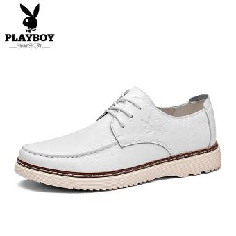 PLAYBOY Sepatu Kulit Musim Gugur Baru Sepatu Santai Inggris Kulit Asli
