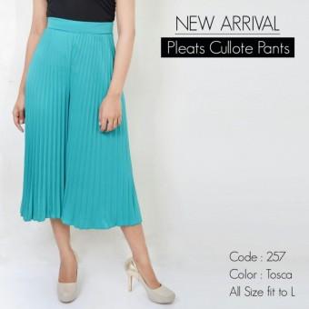 Pleats cullote pants new arrival - cullote plisket 7/8 import -kulot plisket 7