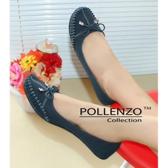 Pollenzo Flat Shoes Fiorenza LC-038 NAVY BLUE