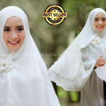 Katalog Premium Sarung Jok Motor DaftarHarga. Source · Premium Jilbab Syar'i Tanpa Pet Model Khimar Dhea FREE Bross Pita - PUTIH TULANG