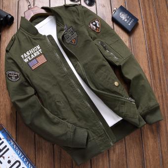 Pria Musim Gugur Dan Dingin Baru Mantel Tipis Jaket Pria (Warna Militer)