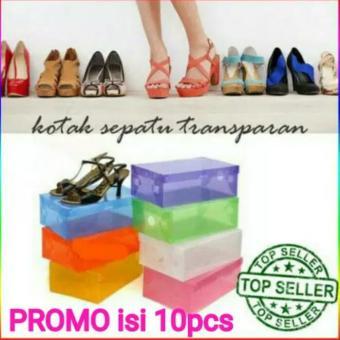 Loa 6 Pcs Kotak Sepatu Transparan Anti Debu   Jamur Kotak Sepatu ... be7a224325