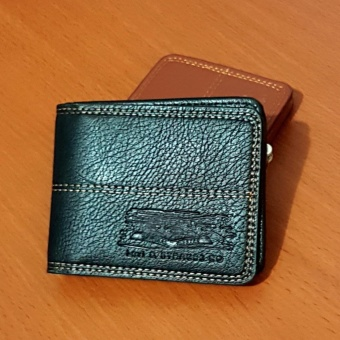 PU Leather Dompet Pria Fashion Wallet 5 Inchi 8828-13 Casual Import - Black
