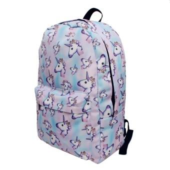 Cek Harga Baru Qokr Wanita 3d Printing Unicorn Backpack Softback Tas