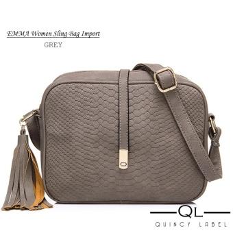 af8933ab8d6 Cek Harga Baru Quincy Label Emma Women Sling Bag Navy Terkini ...