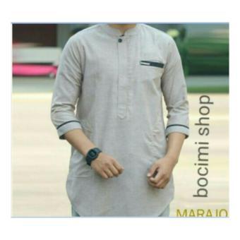 Kehebatan Baju Pria Kemeja Baju Koko Gaul Qurta Original Marajo Biru ... 6f3e8e24b0