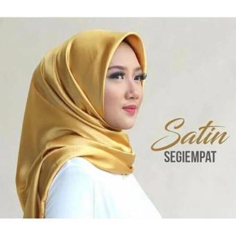 R2G Store - Hijab Square Kerudung Segi Empat - Satin Polos - Gold