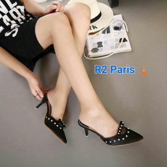 R2Paris Mini Heels Paiva Hitam
