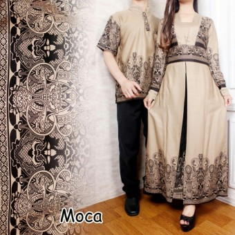 LF Batik Pasangan Pria Dan Wanita BAGUS   Kemeja Batik Couple Murah   Batik  Lebaran Keluarga 278e9bdad4