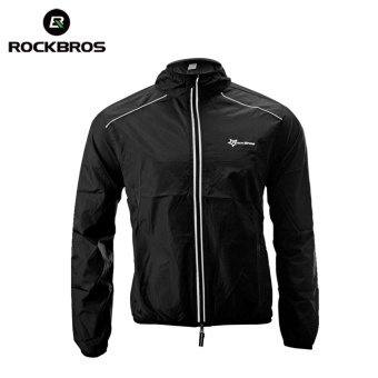 ROCKBROS Cycling Bike Bicycle Jacket Coat Cycling Bicycle JerseyClothing Windproof Reflective Quick Dry Coat Bike Equipment(JacketBlack) - intl