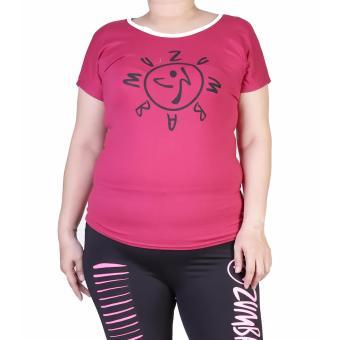 Baju Senam Zumba - Pink XL