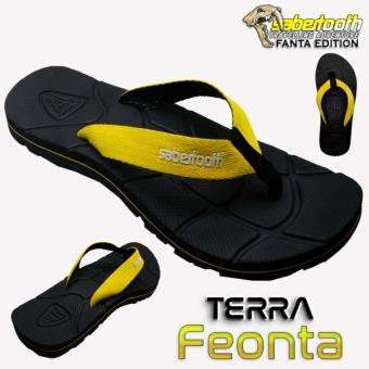 Sabertooth Sandal Gunung / Traventure Terra Feonta Size 32 s/d 47 [Hitam Tali