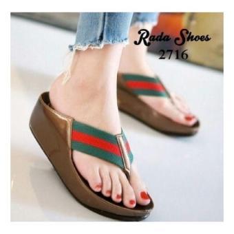 Sandal jepit wedges santai murah