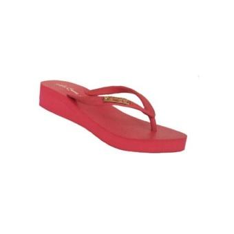 Ando sandal hak wanita nice queen -warna fushia