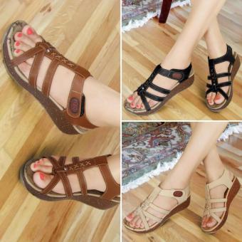 Fitur Sandal Wedges Cantik Plat M Dk10 Dan Harga Terbaru - Info ... ce2e1eb587
