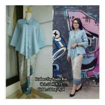 SB Collection Stelan Kebaya Vega Batik Blouse Dan Rok Lilit-Biru