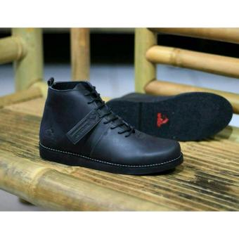 Sepatu Boots Kulit Pria Wolf Brodo Malamut Original Hight Quality - Black 94b7bb5504