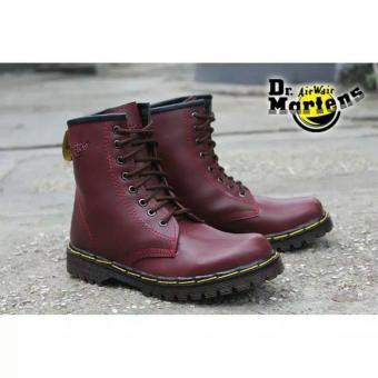 Sepatu Boots Pria Docmart High Maroon