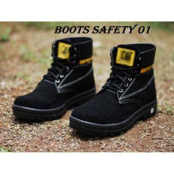 Sepatu Caterpillar Safety Boots - Hitam