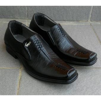 Sepatu Crocodile - Sepatu Pantofel Pria Formal 100% Kulit Asli Model Zigzag 1ab4482c73