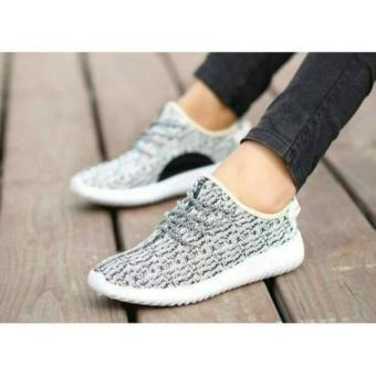 Sepatu Kets Wanita Yz Jalan Wanita Abu Putih