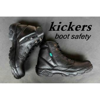 Sepatu Boots Kickers Safety Kulit - Warna Hitam   Sepatu Safety   Sepatu  Formal   Sepatu 2c66bed5c1