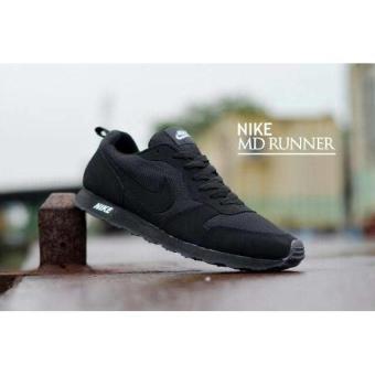 Sepatu Nike Md Runner Casual Hitam Polos Full Black Sepatu Sekolah - Mcvpw0 06f5c7cdec