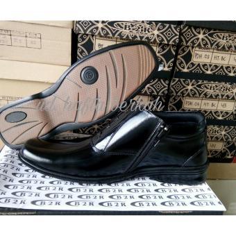 Sepatu Pdh Mengkilap Kulit Asli Model 02bc Standar Polri-Tni & Kedinasan Lainnya