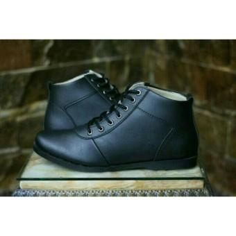 Sepatu Pria Full hitam Semi Boots Formal kerja Kantor Brodo bradleys d5979d3f01