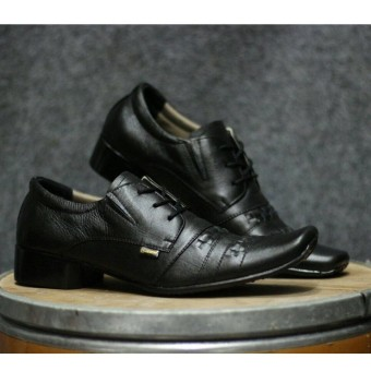 Sepatu Pria Pantofel Kulit Asli   Formal Casual Terbaru Trendy - CEVANY  SAMAK - Hitam   79b5ae0cc4