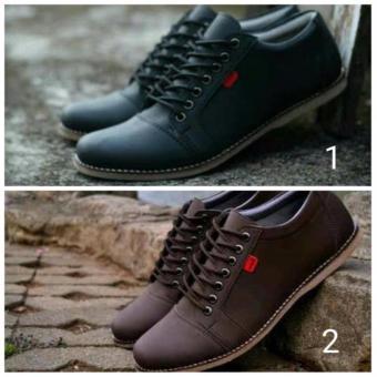 Sepatu Kickers Saka Black Pria Santai Casual