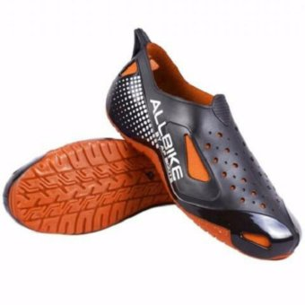 Sepatu Sepeda Motor All Bike Ap Boots Hujan Allbike 100% Orange By AP Boots Casual Waterproof Shoes