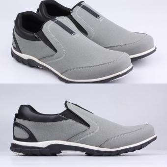 Sepatu Sneakers Slip On Pria Loafers Casual Remaja Grey Abu Catenzo Sol  Karet bbb4be62c6