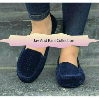 Sepatu Wanita Flat Jelly Bludru 5851