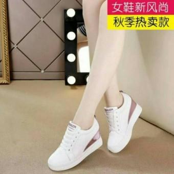 Sepatu Wanita Kets Cewek Boots Tali Murah putih hitam elfan shop