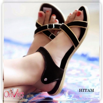 Cek Harga Baru Nyaman Renda Ukuran Besar Sepatu Wanita Sandal Hitam ... 43e88809c2