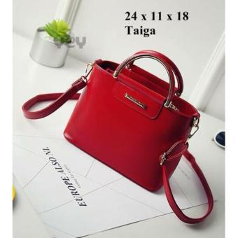 SHOPPIES Tas Branded Wanita With Pompom - High Quality TAS ELGA PU Leather Korean Elegant Bag