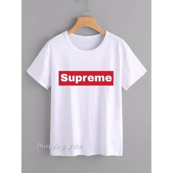 Shopping Yukz Kaos Wanita SUPREME - WHITE / T-shirt Wanita / Kaos Cewek /