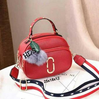 Sling Bag Korean Style Gold Ace Double Space with Bag Strap/ Tas Selempang Wanita Korean