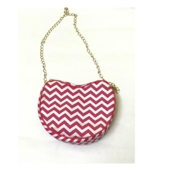 Harga slingbag wanita love zigzag pink