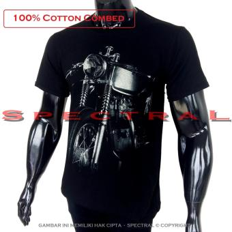 Fitur Spectral Vespa 100percent Soft Cotton Combed 30s Kaos Distro