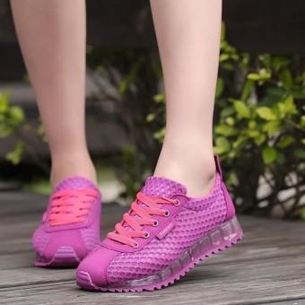 Super Bernapas Sepatu Olahraga Kasual Wanita Sepatu Mode Sepatu Lari Lembut Sepatu Jala Ringan Wanita Kasual