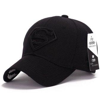Superman Bisbol Cap Topi untuk Pria Wanita Adjustable S Surat Kasual Kolam Snapback Topi (hitam