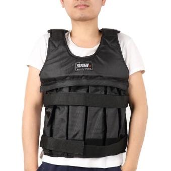 SUTEN 50 Kg Max Loading Adjustable Weighted Rompi Latihan Kebugaran Jaket -Intl