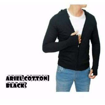 sweater pria rajut-ARIEL COTTON BLACK-rajut terbaru-Sweater tribal