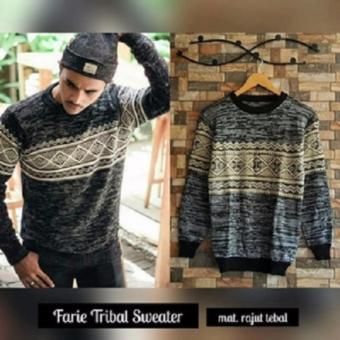 Sweater Pria Rajut - Farie Tribal sweater - Rajut Tribal