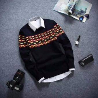 SWeater Pria Rajut - Wily Black Tribal - Rajut tribal