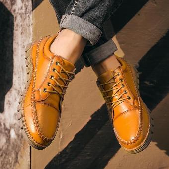 Tahan Lama Sepatu Kulit Pria Sepatu Kerja Bisnis Sepatu Kulit Kasual Sepatu Kerja Luar Kulit Pria