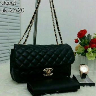Tas Branded Wanita 3 in 1 - High Quality PU Leather Korean Elegant Bag Style +